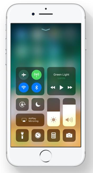 iOS 11- Control Center